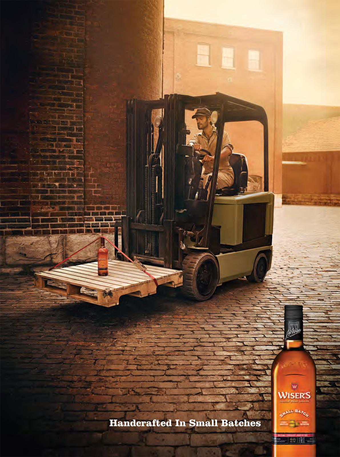 Wiser's Outdoor Ad -  Forklift