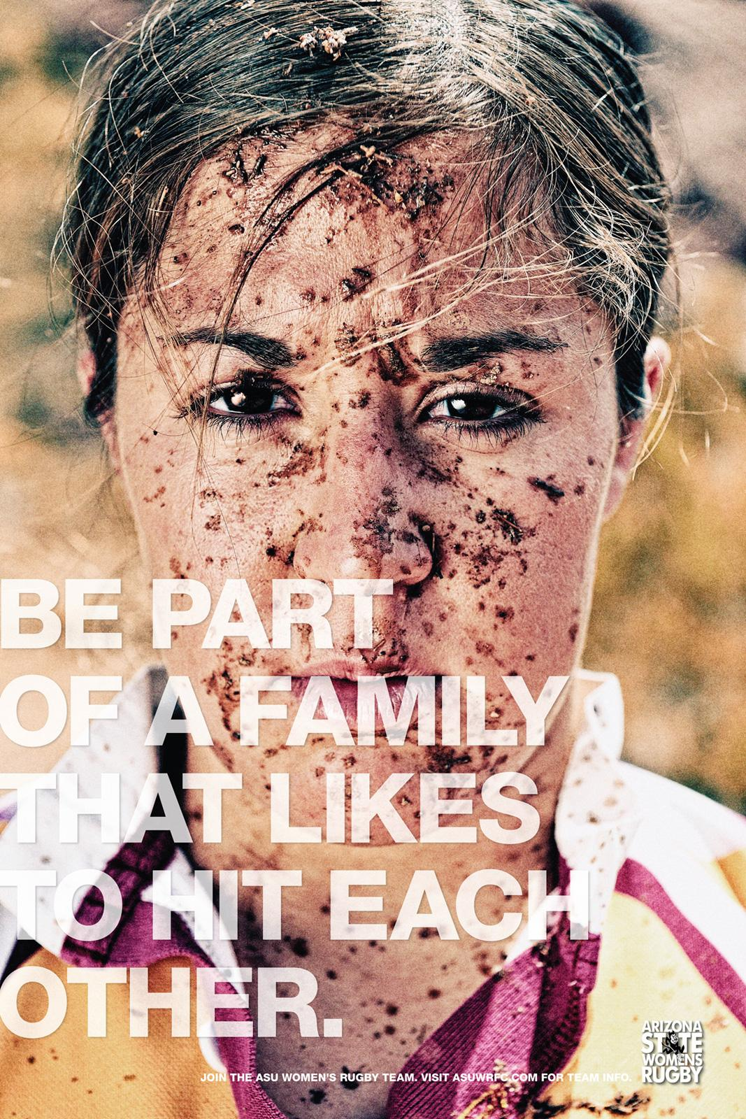 Arizona State University Women's Rugby Print Ad -  Be Family