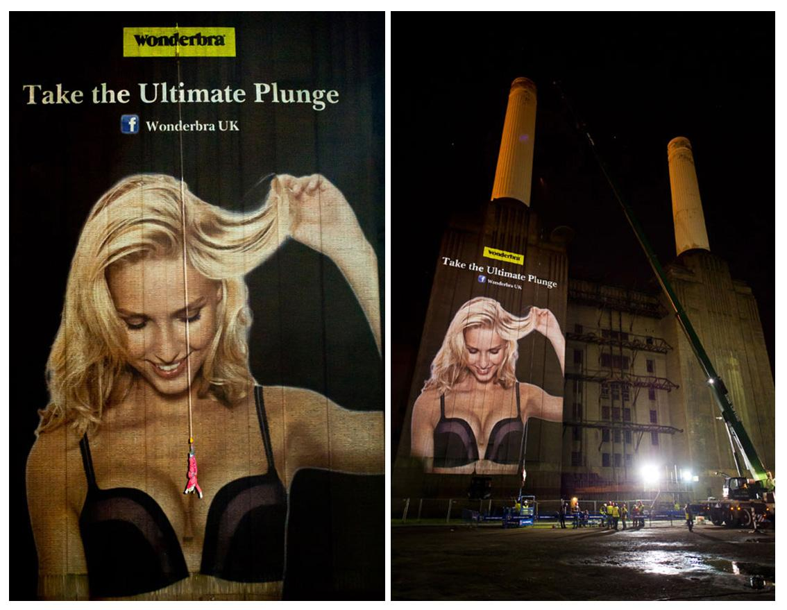 Wonderbra Outdoor Ad -  Take the Ultimate Plunge