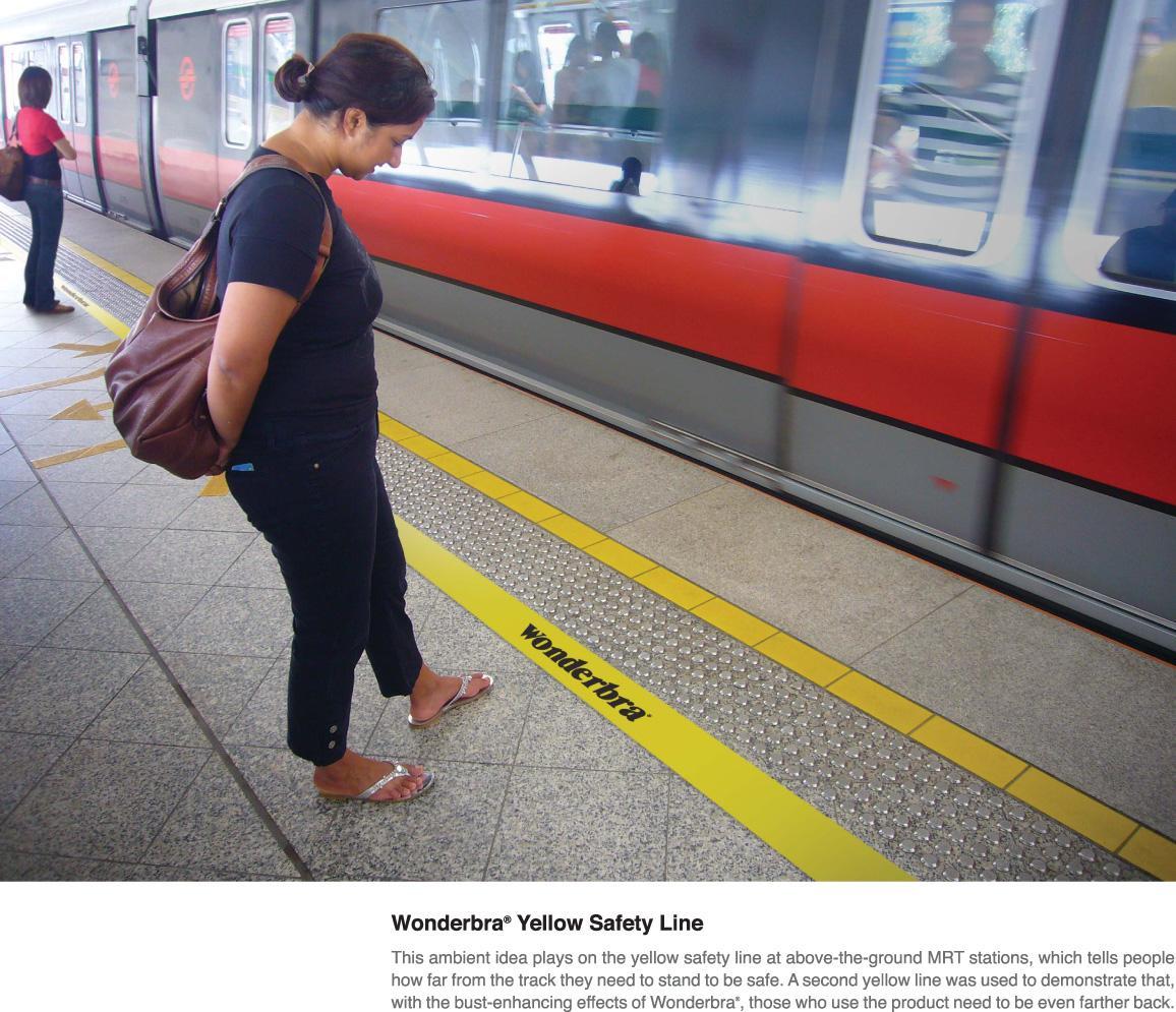Wonderbra Ambient Ad -  Safety line