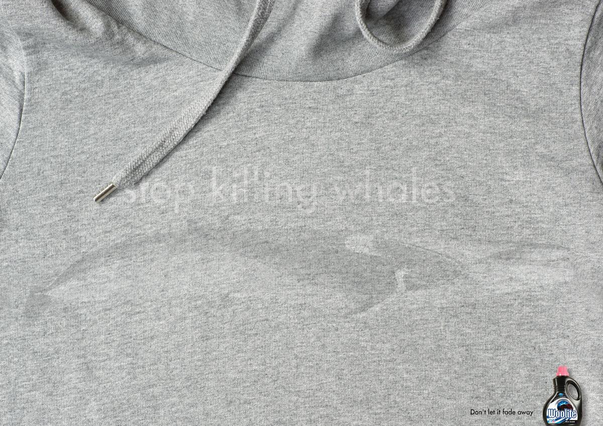 Woolite Print Ad -  Stop killing whales