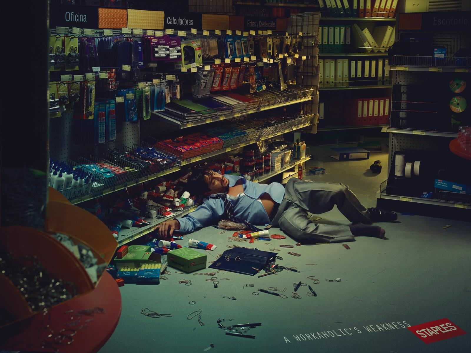Staples Print Ad -  Workaholic, Nate