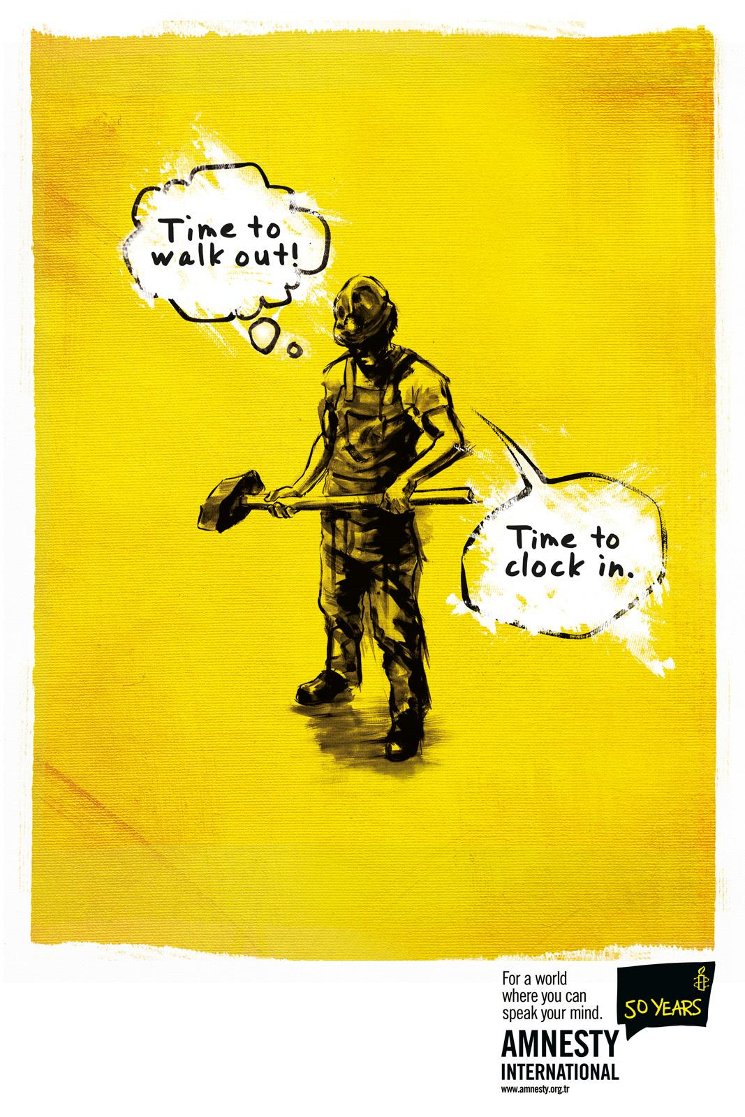 Amnesty International Print Ad -  Worker