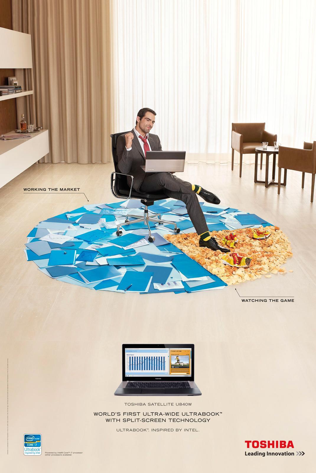 Toshiba Print Ad -  Working
