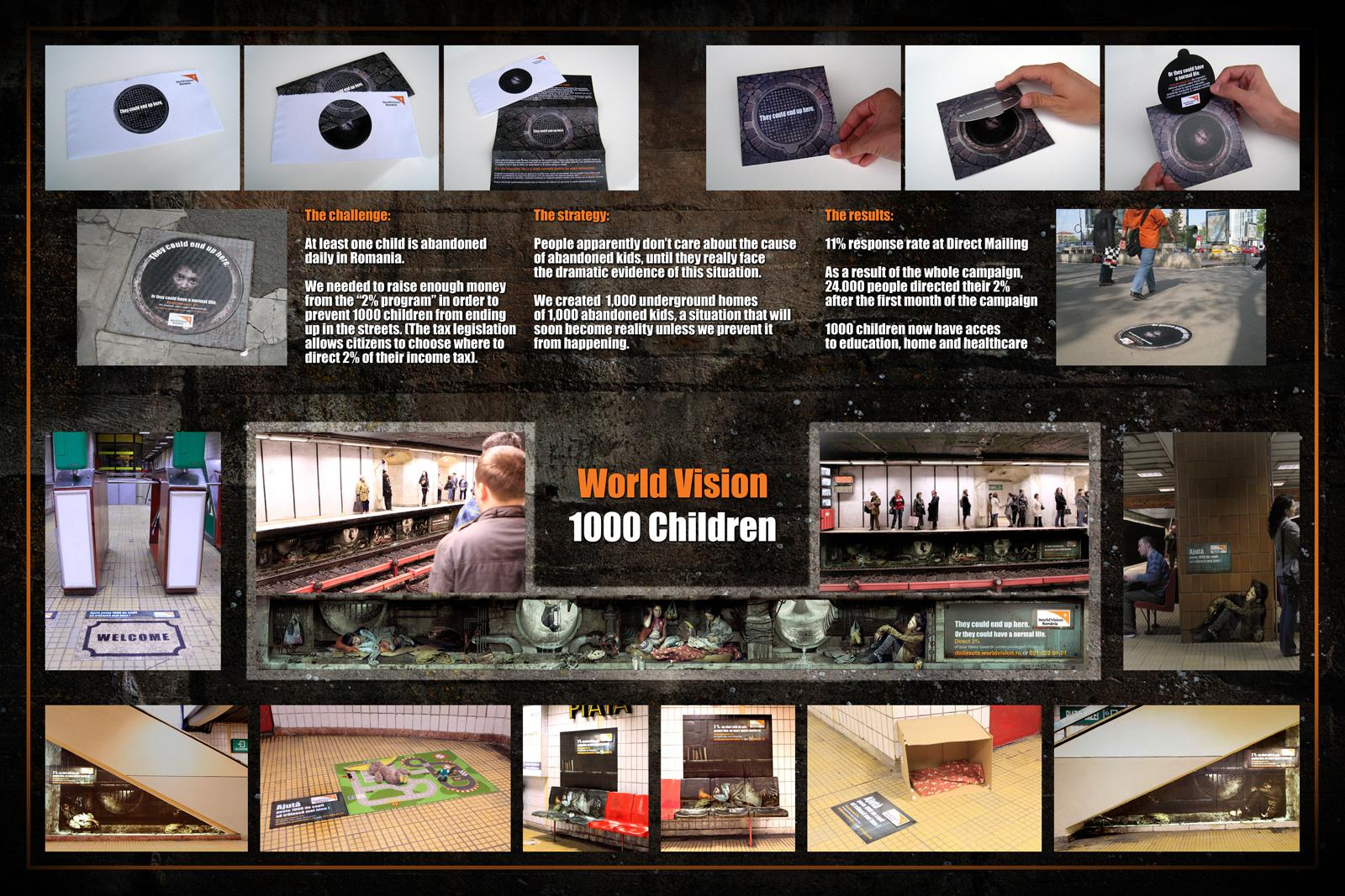 World Vision Outdoor Ad -  1000 Children
