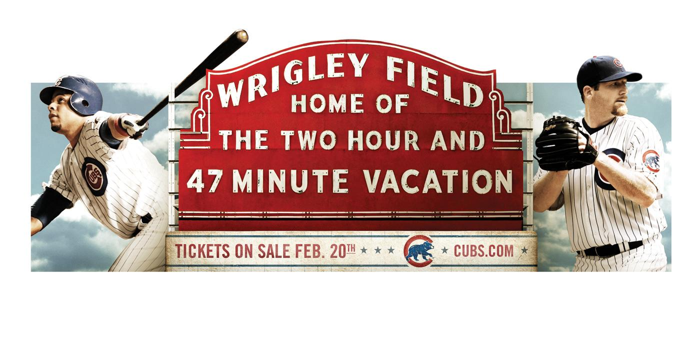 The Chicago Cubs Print Ad -  47 Minute Vacation