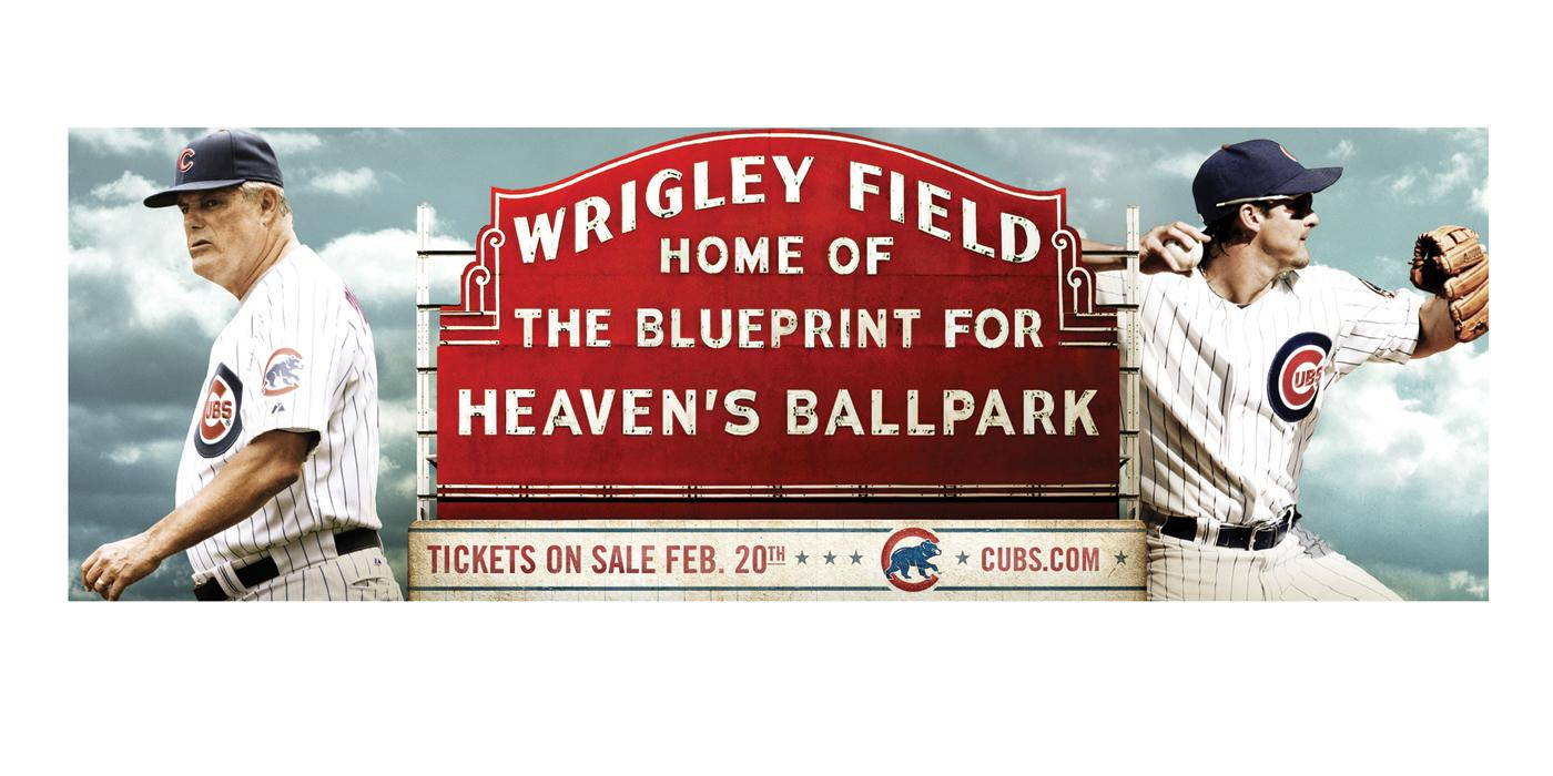 The Chicago Cubs Print Ad -  Heaven's ballpark