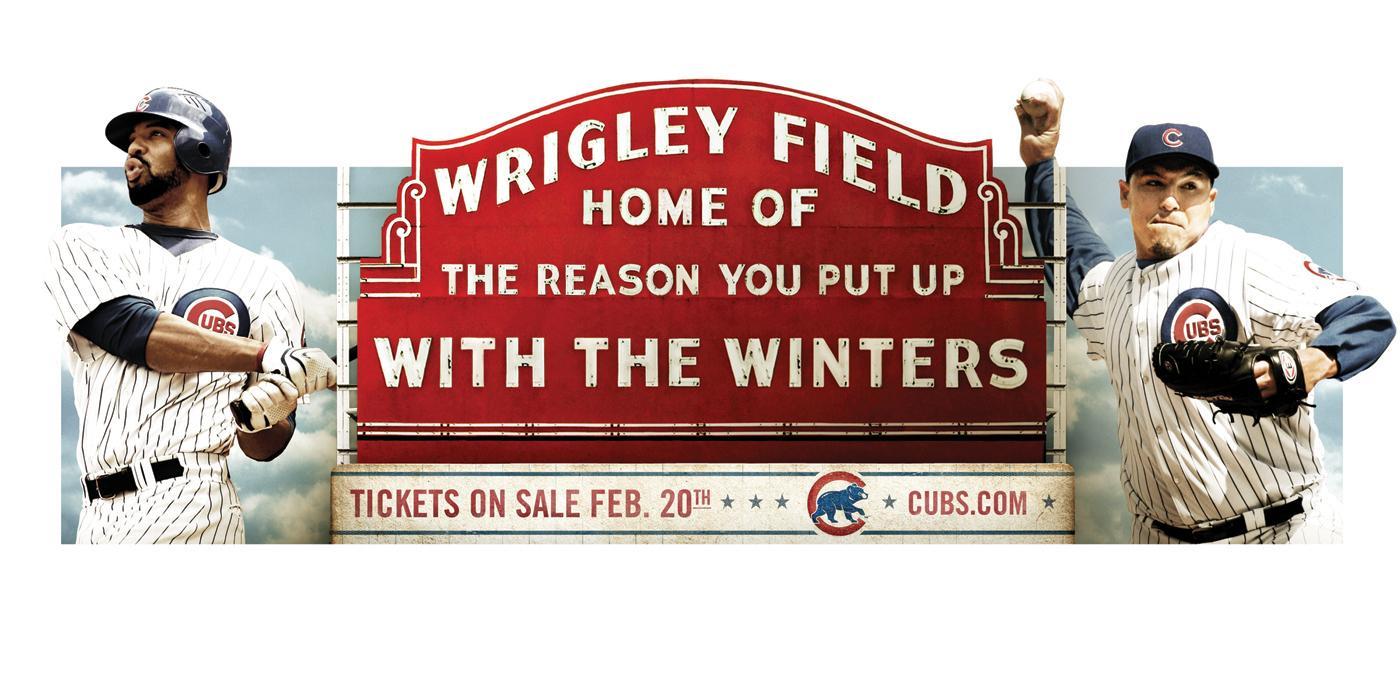 The Chicago Cubs Print Ad -  Winters