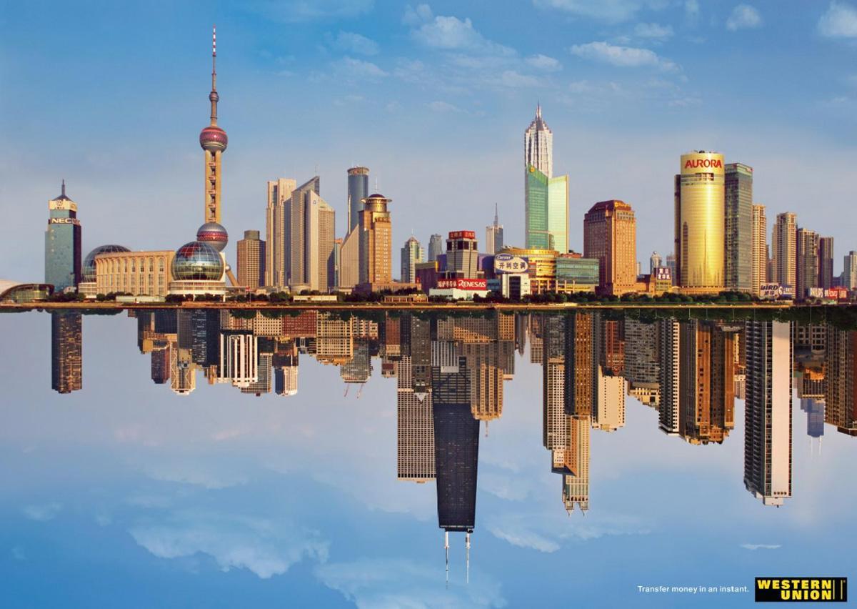 Western Union Print Ad -  Shanghai/Chicago