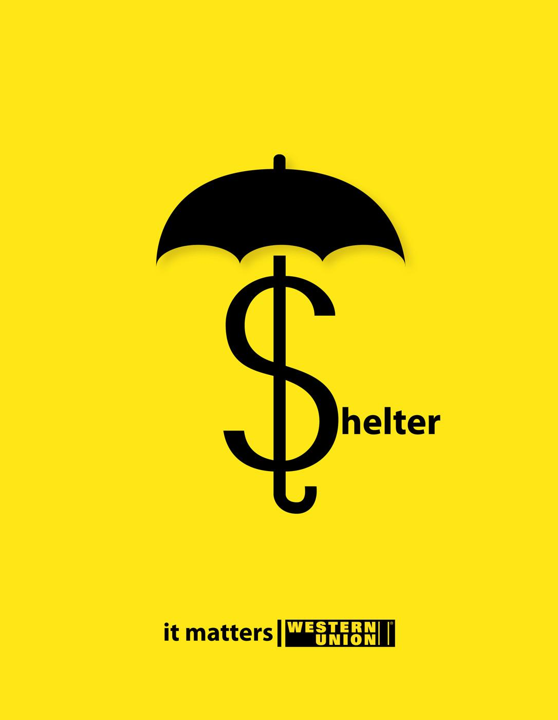 Western Union Print Ad -  Shelter