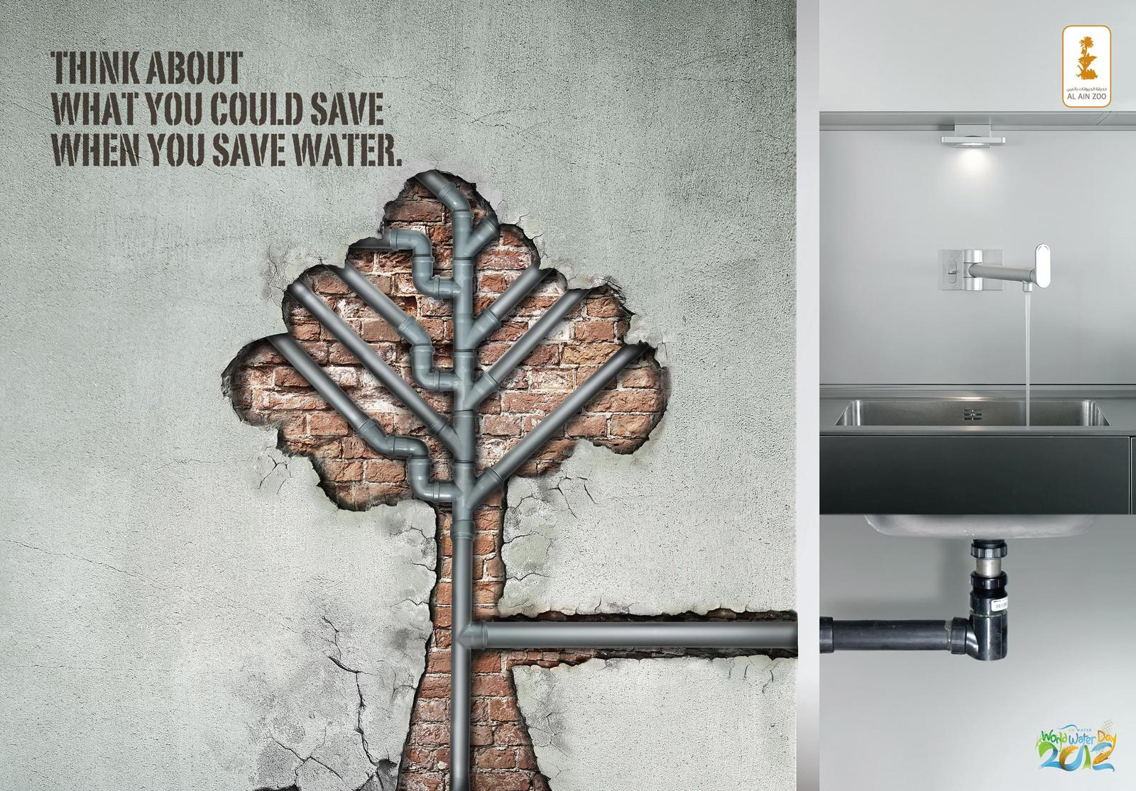 Al Ain Zoo Outdoor Ad -  World Water Day, Tree