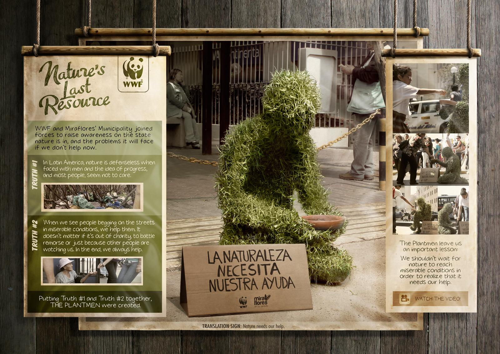 WWF Ambient Ad -  The Plantmen