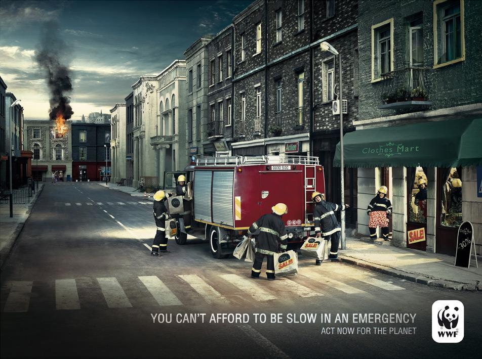 WWF Print Ad -  Fireman