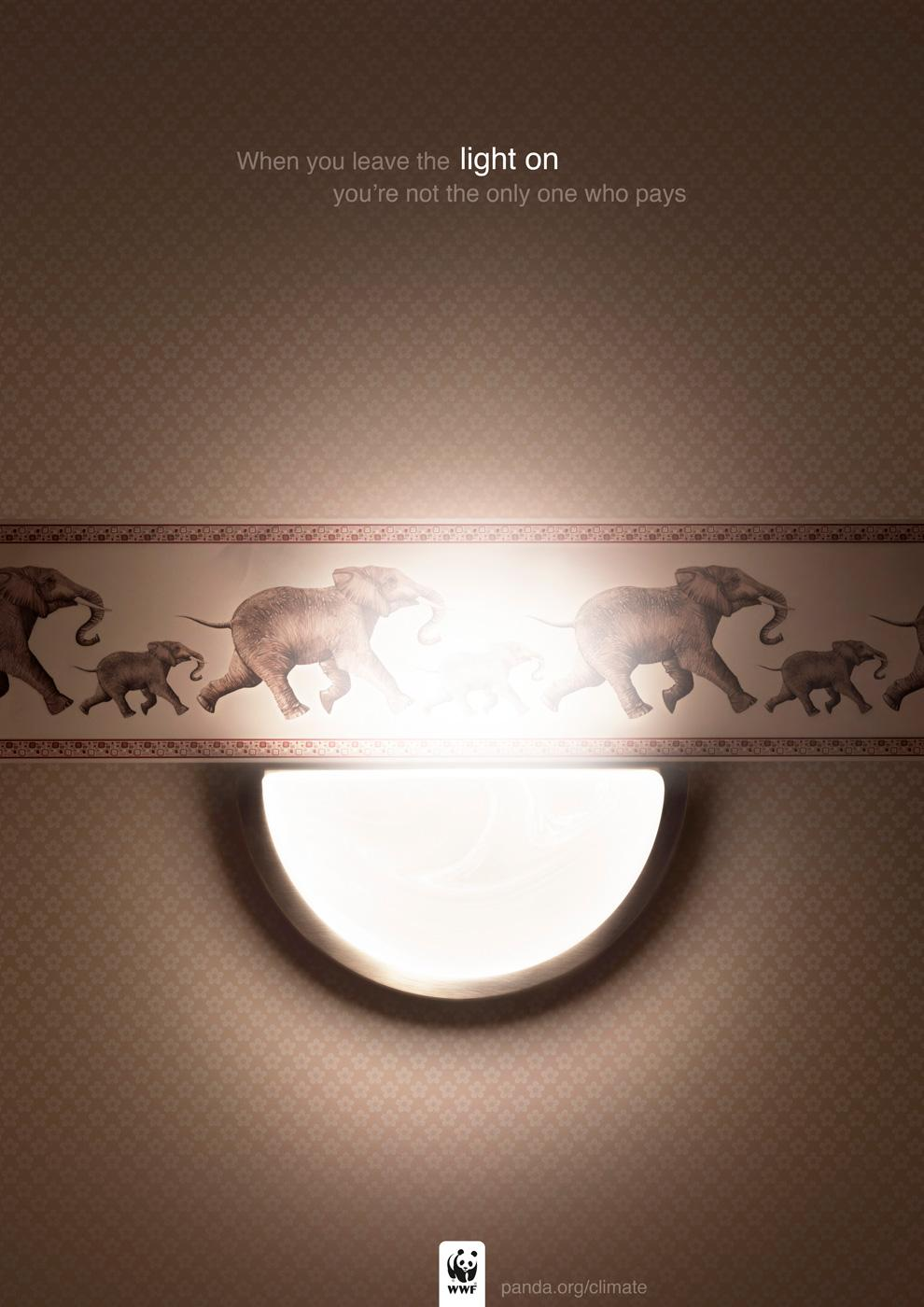 WWF Print Ad -  Elephants