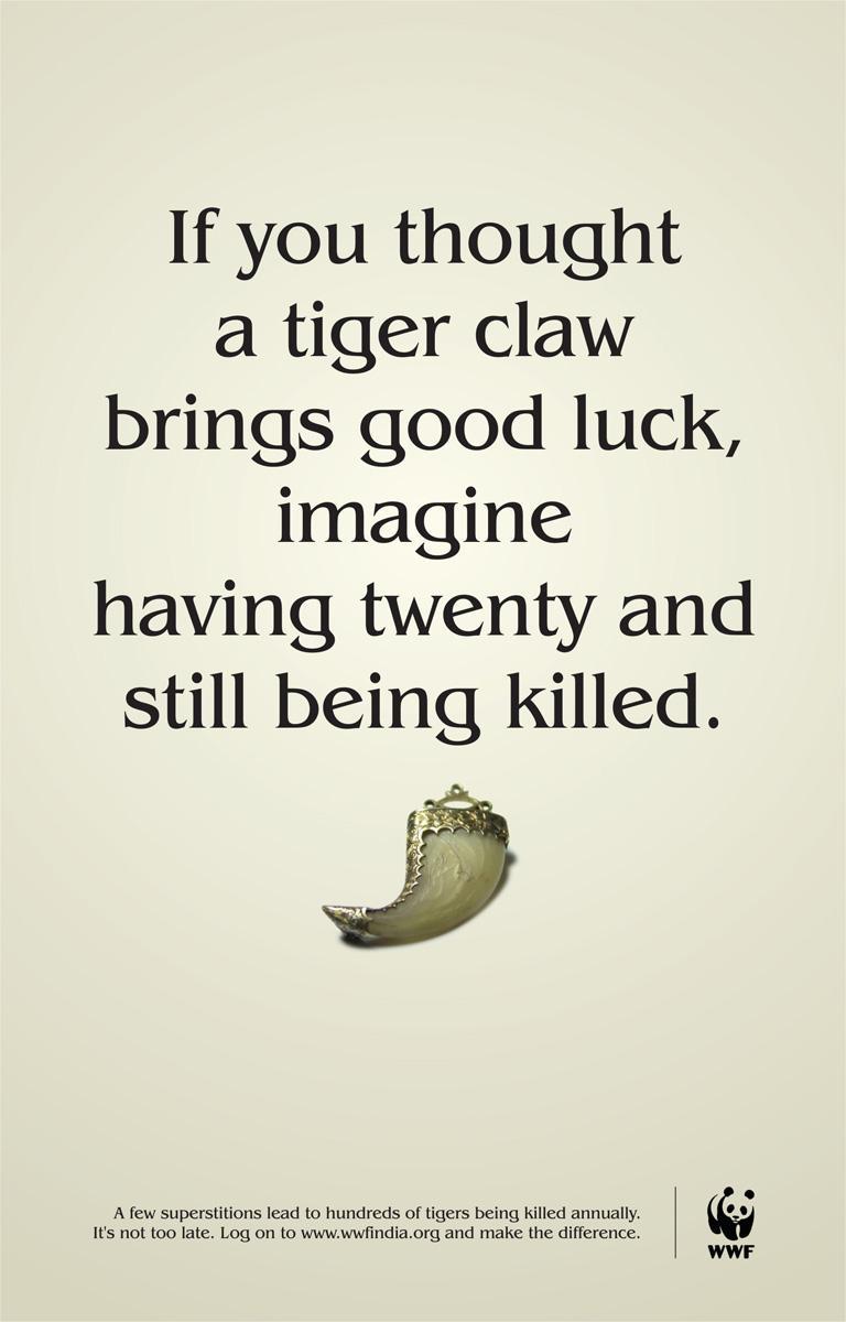 WWF Print Ad -  Tigers