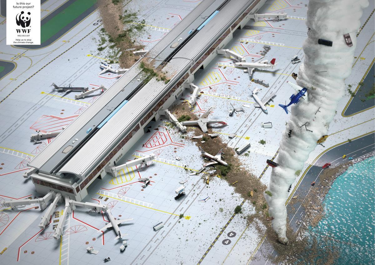 WWF Print Ad -  Tornado