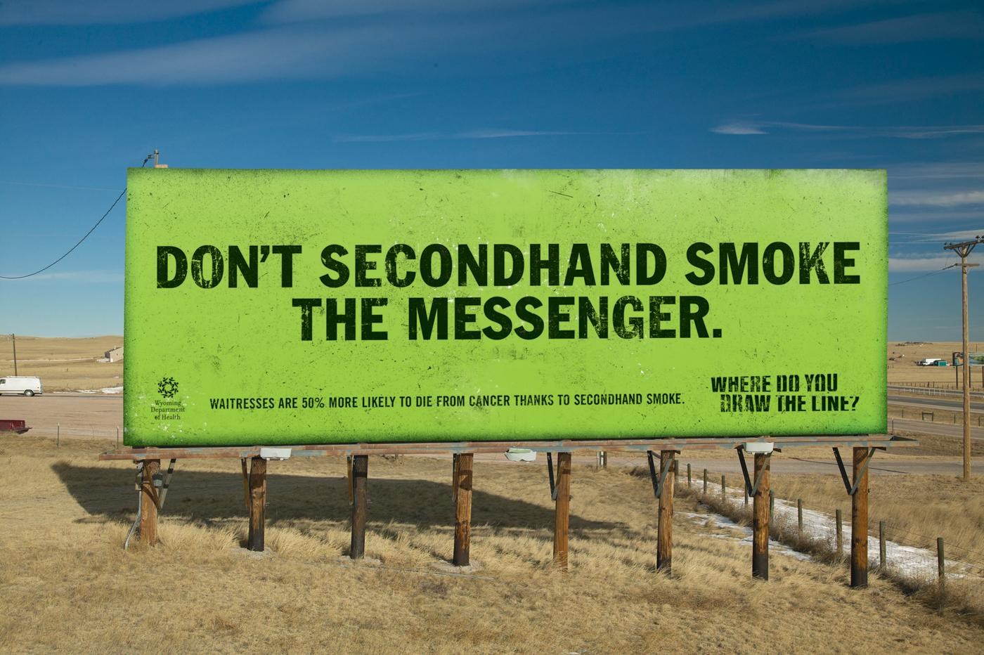 Wyoming Department of Health Outdoor Ad -  Messenger