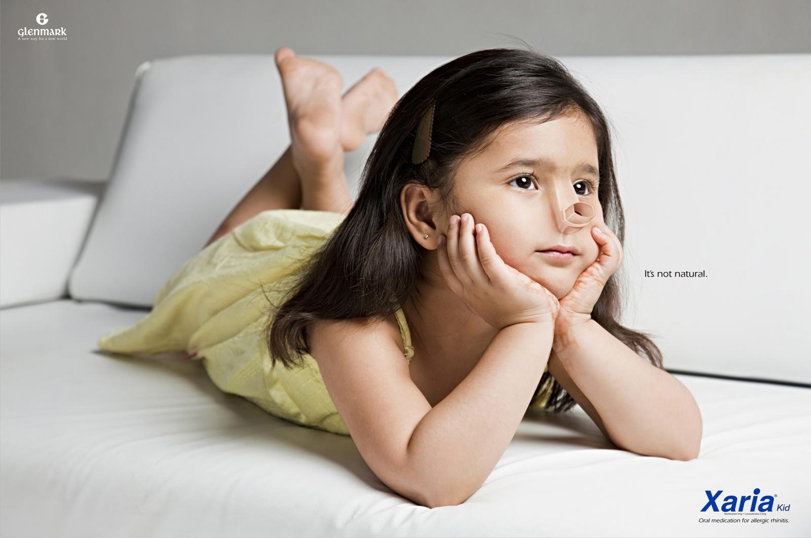 Xaria Kid Print Ad -  It's not natural, 1