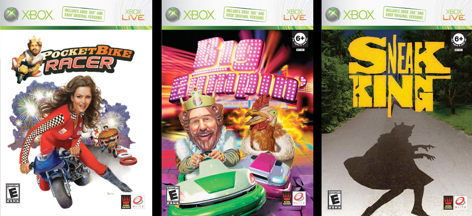 Burger King Ambient Ad -  Xbox games
