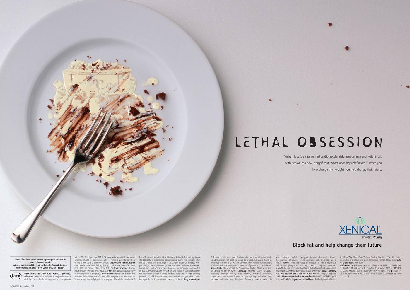 Xenical Print Ad -  Cream