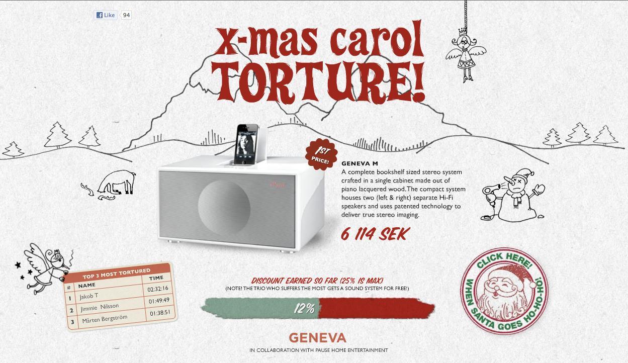 Geneva Lab Digital Ad -  Xmas Carol Torture