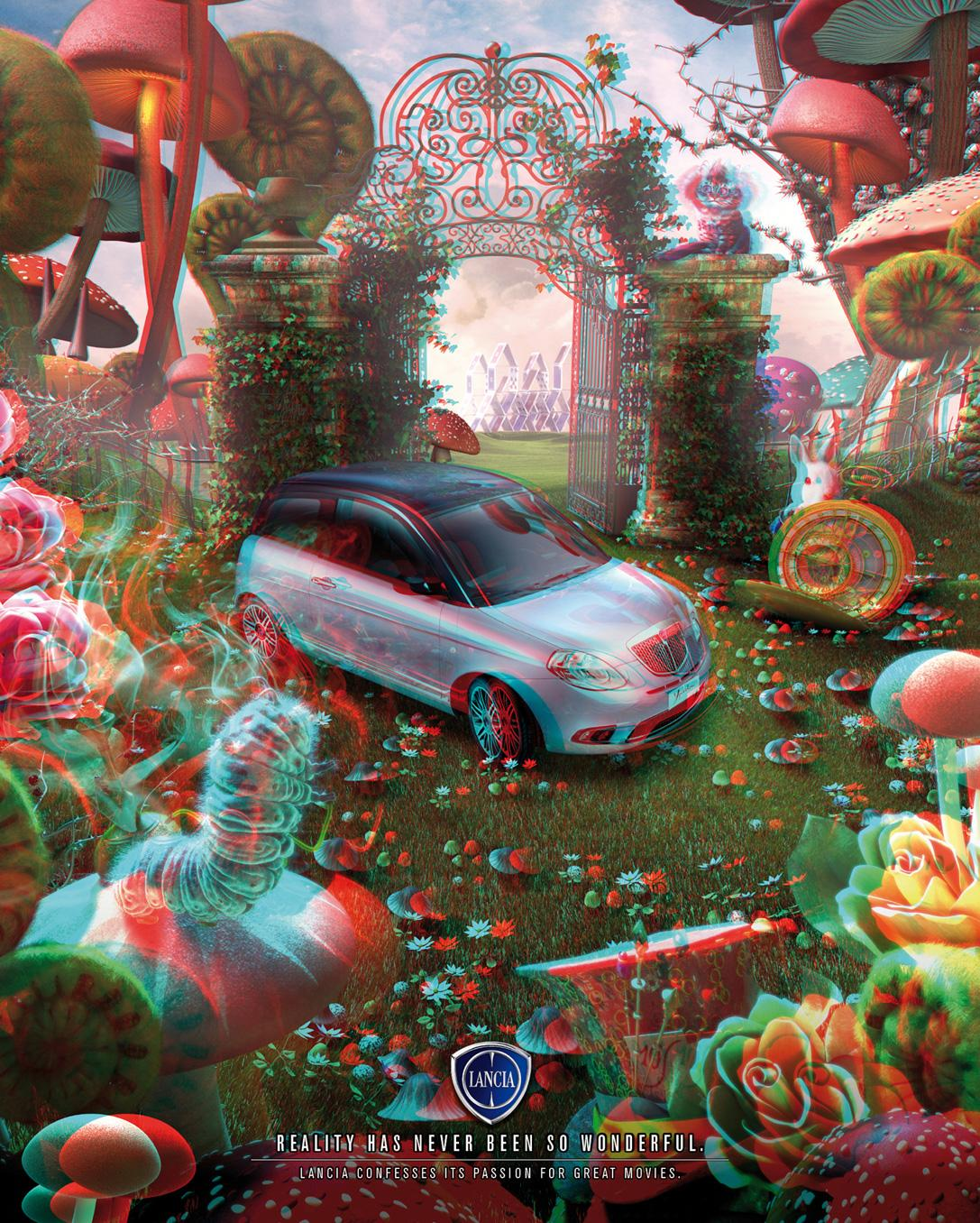 Lancia Print Ad -  Alice 3D