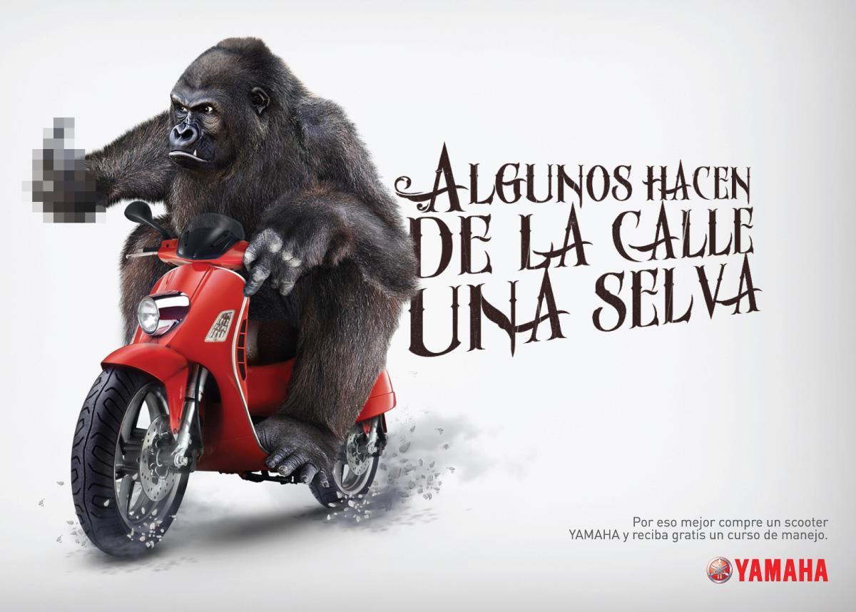 Yamaha Print Ad -  Gorilla