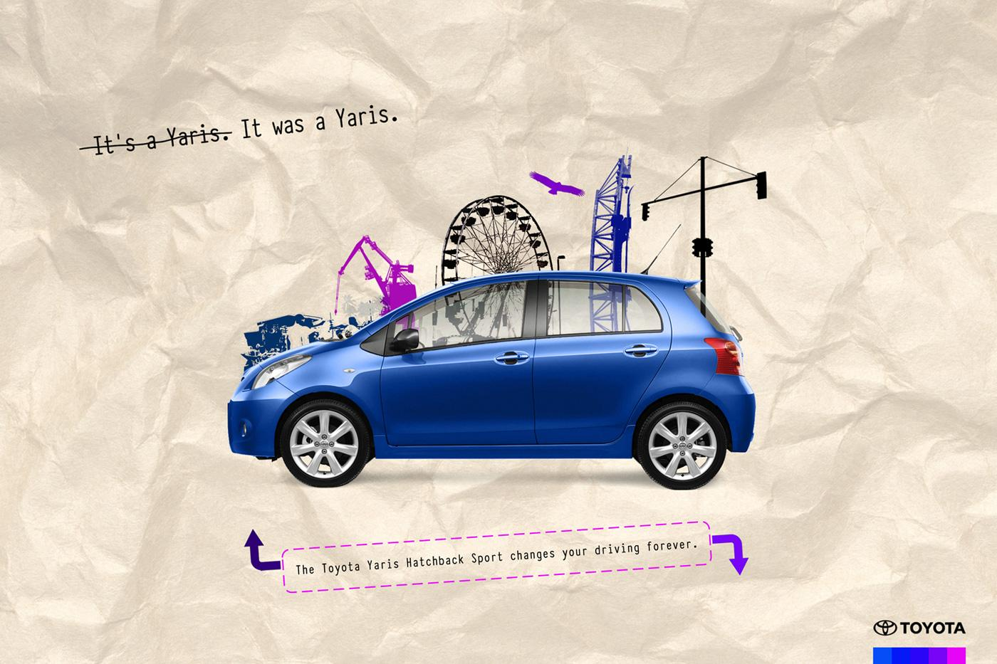Toyota Print Ad -  Yaris Hatchback Sport Blue