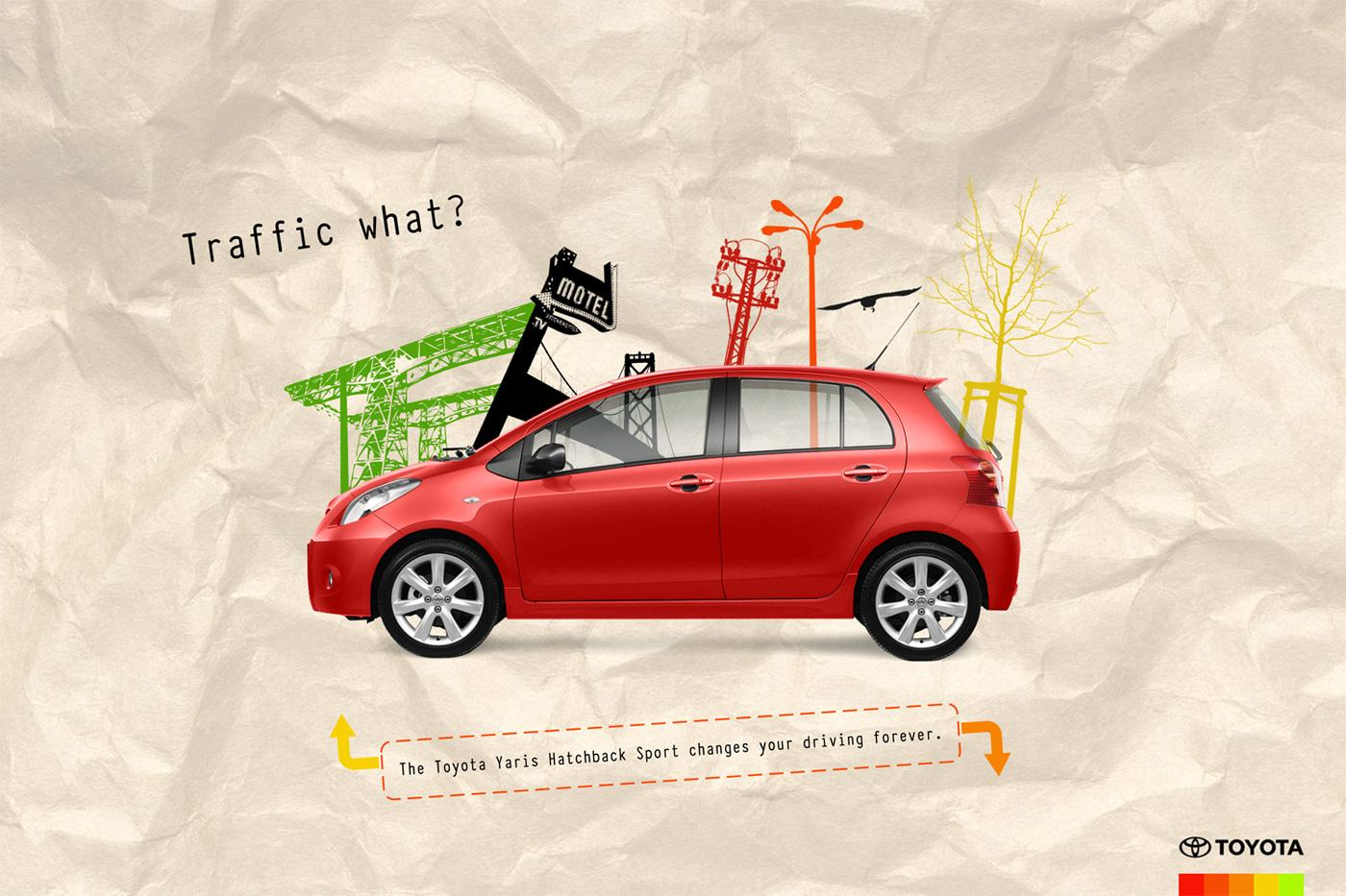 Toyota Print Ad -  Yaris Hatchback Sport Red