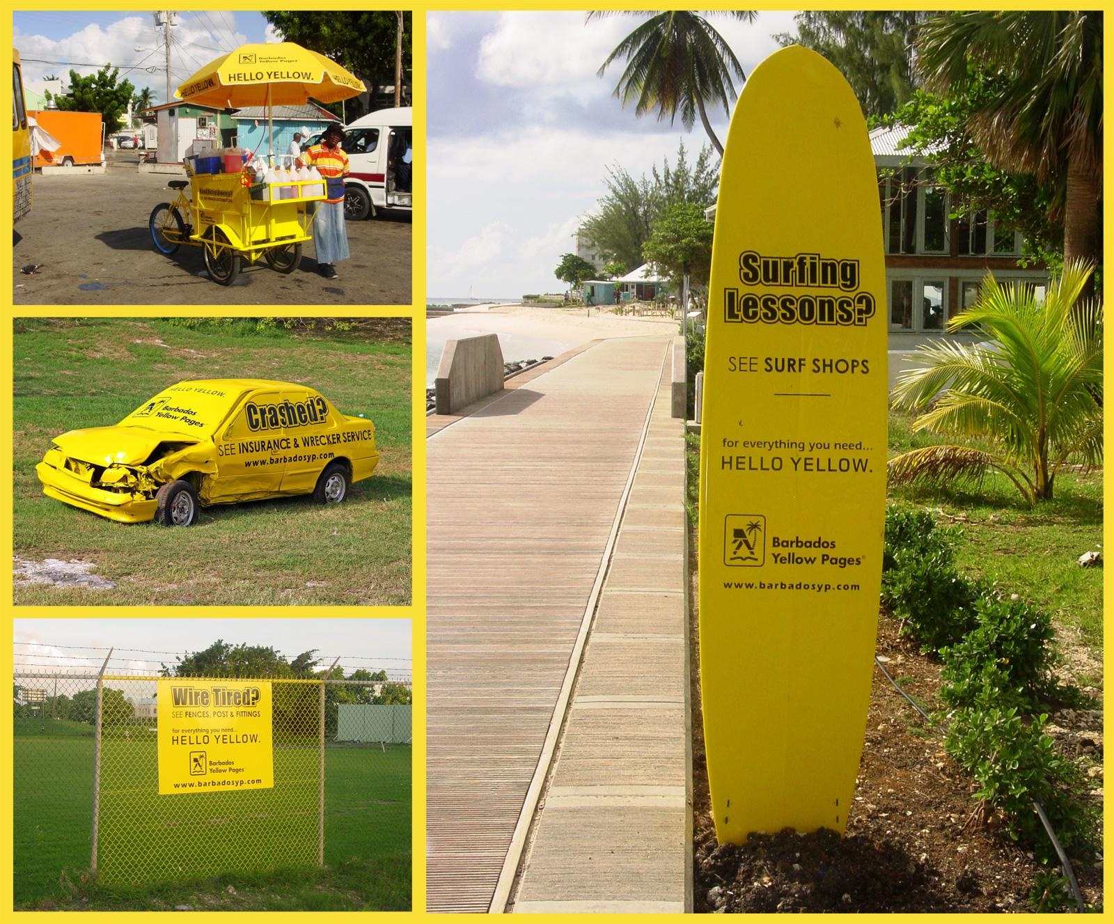 Yellow Pages Outdoor Ad -  Paint The Town Yellow