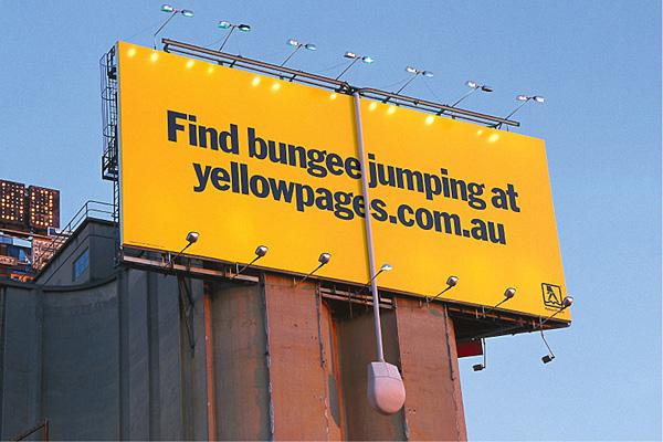 Yellow Pages Outdoor Ad -  Bungee jumping
