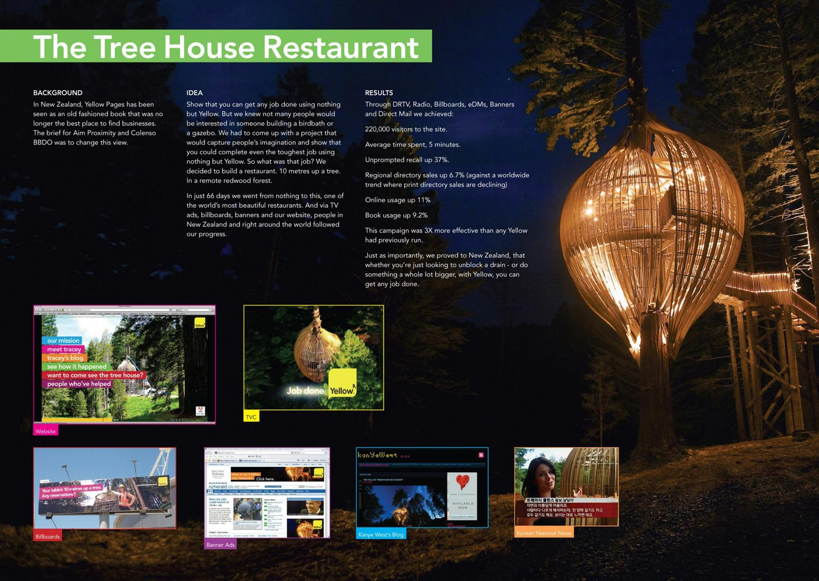 Yellow Pages Direct Ad -  Tree House restaurant