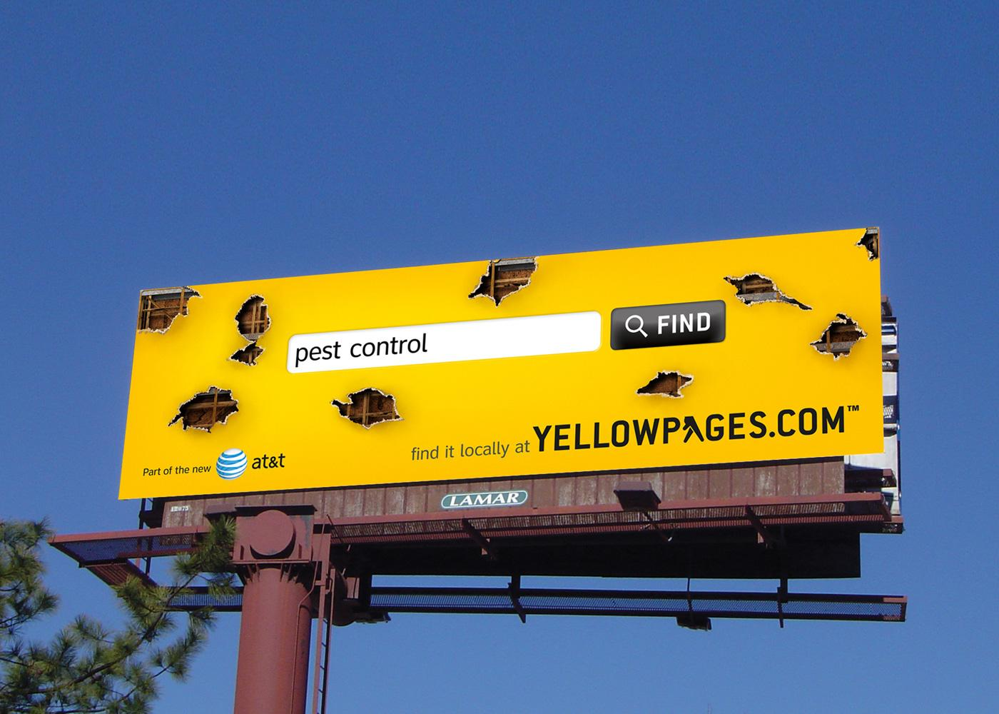 Yellow Pages Outdoor Ad -  Pest control