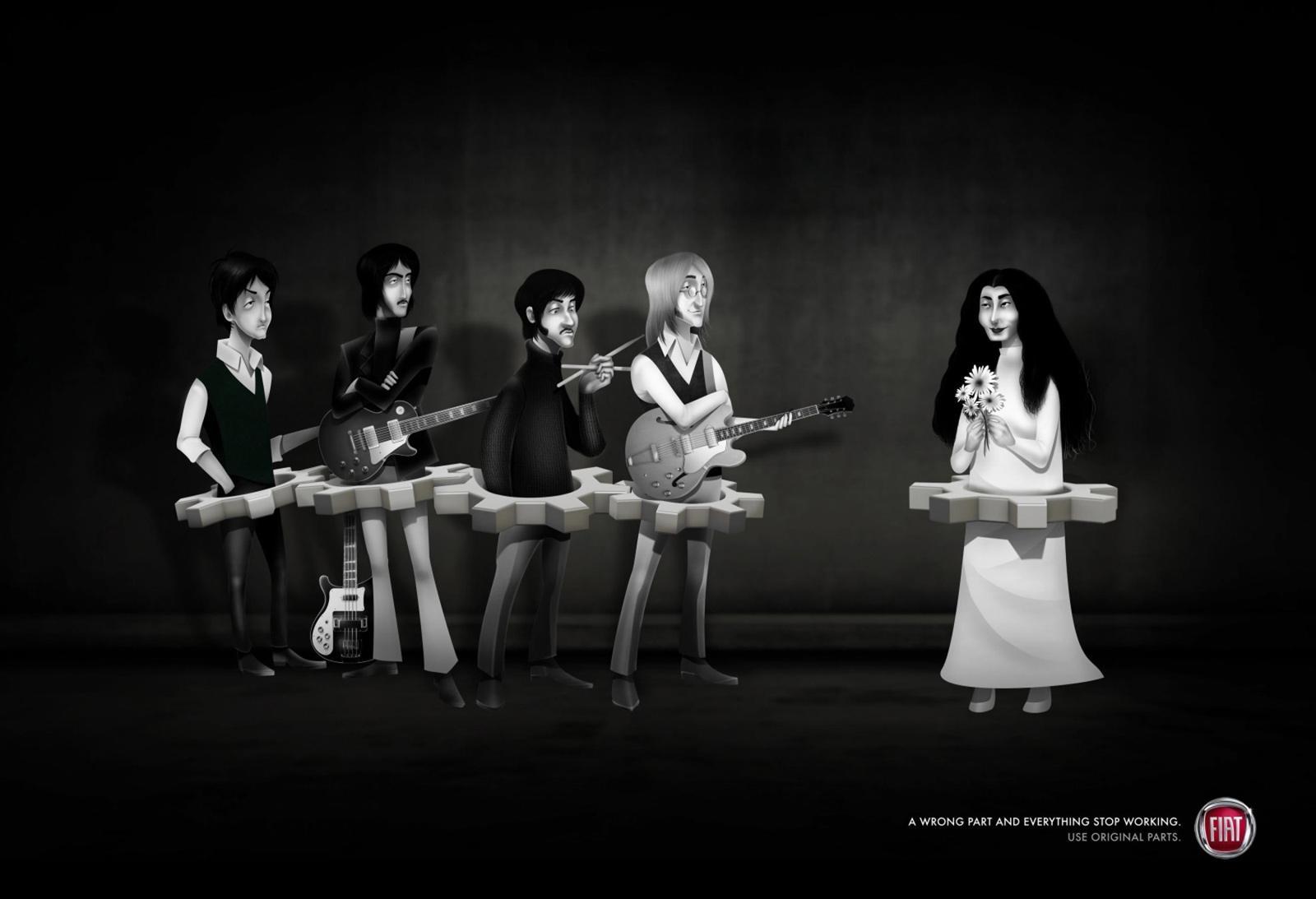Fiat Print Ad -  Yoko