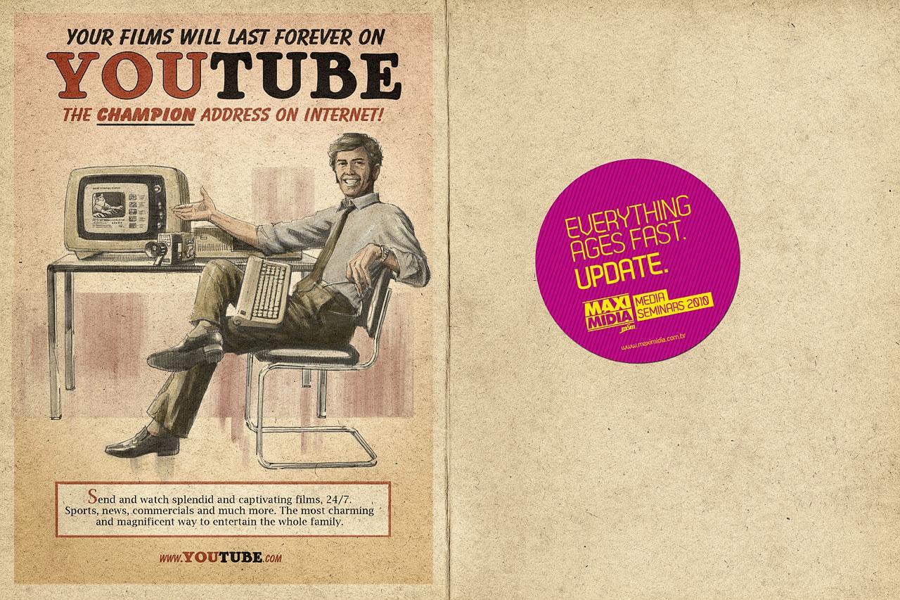 Maximidia Print Ad -  Vintage Youtube