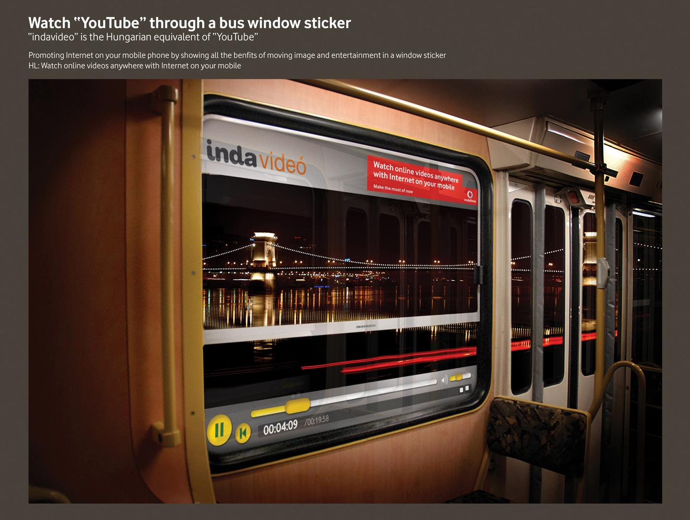 Vodafone Ambient Ad -  Bus