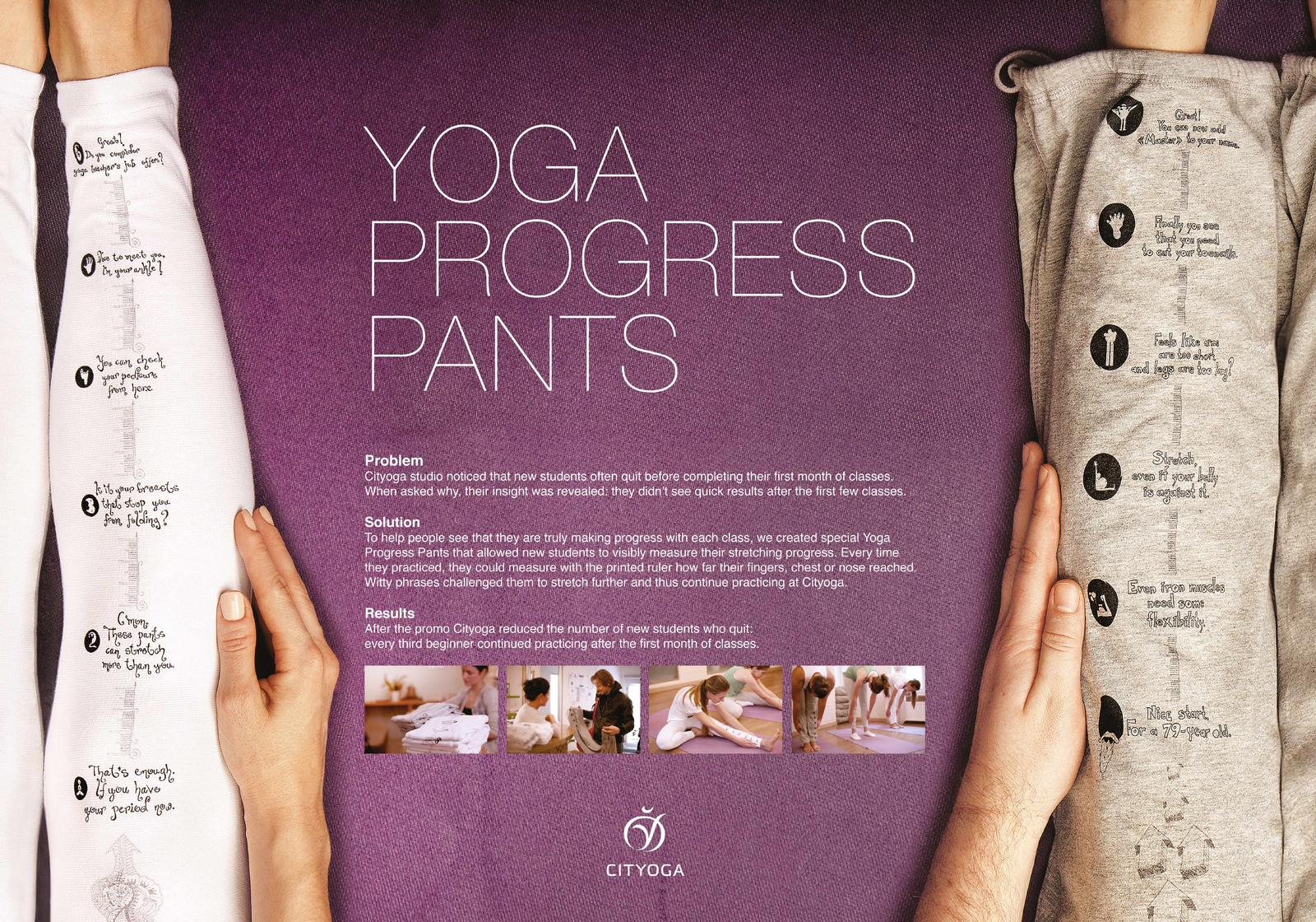 Cityoga Direct Ad -  Yoga progress pants