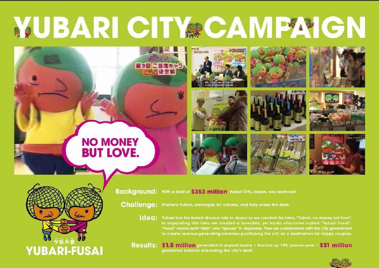 Yubari Ambient Ad -  City campaign