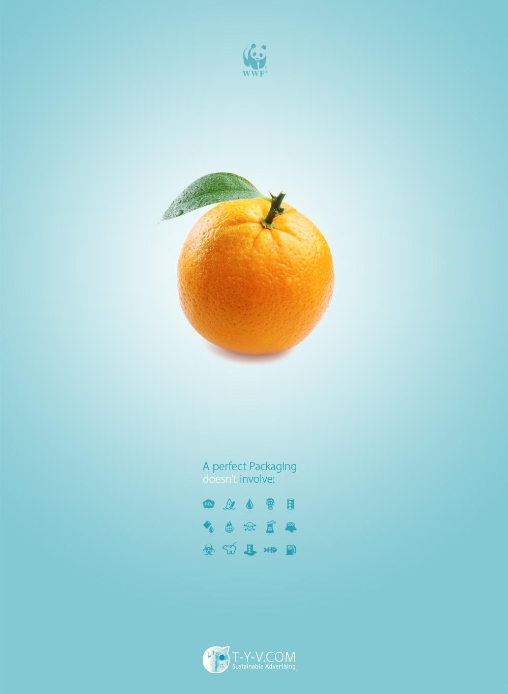 WWF Print Ad -  Orange