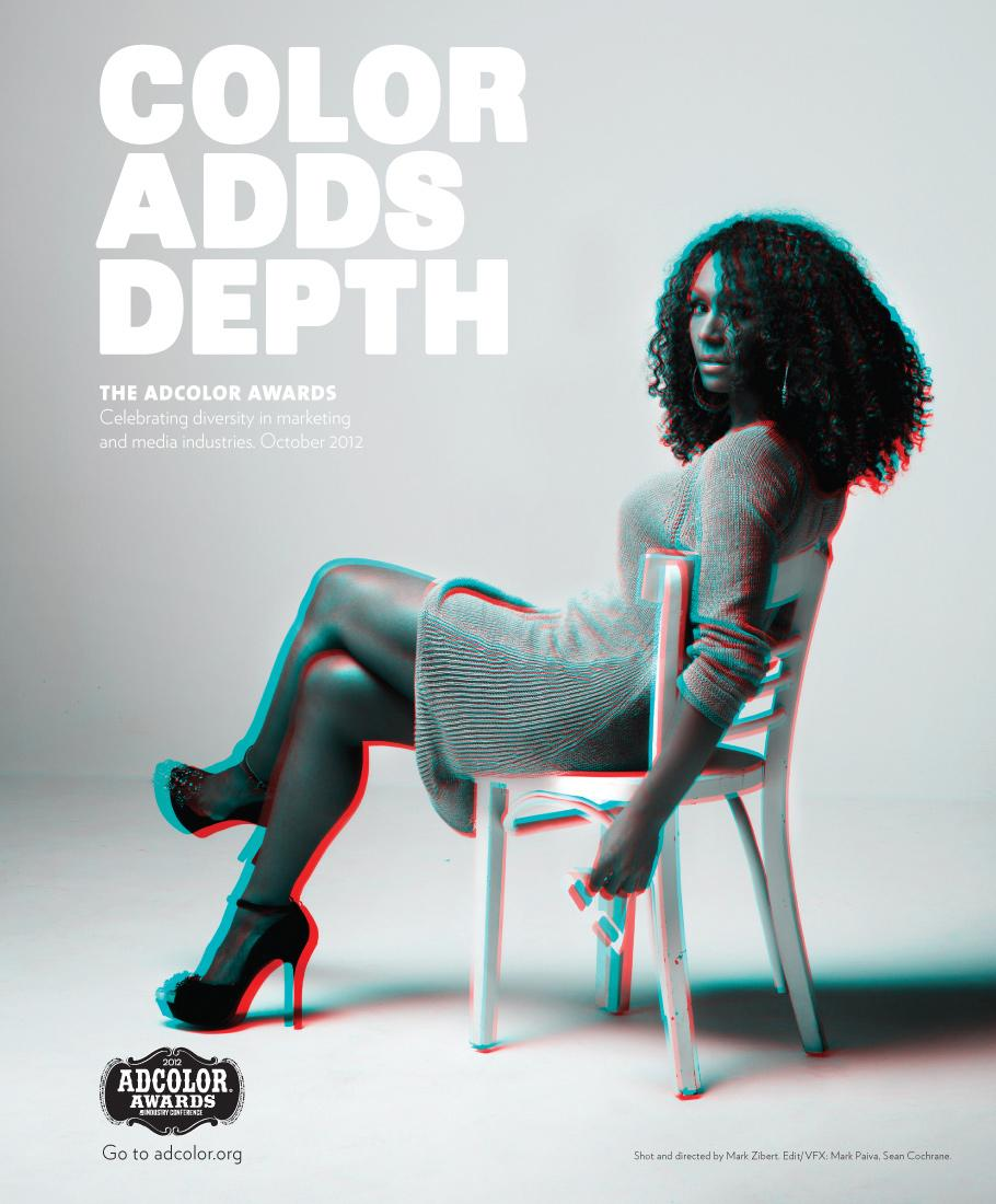 ADCOLOR Awards Print Ad -  Color Adds Depth, Janet