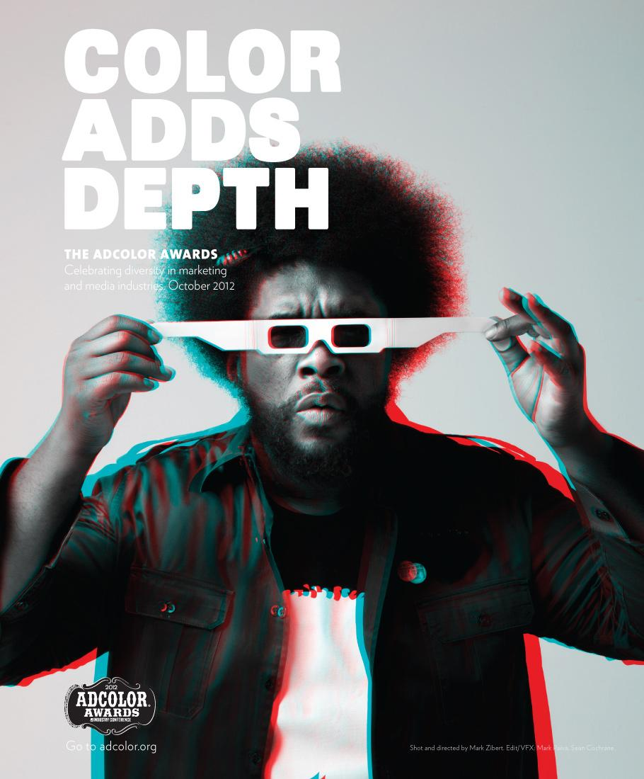 ADCOLOR Awards Print Ad -  Color Adds Depth, Questlove