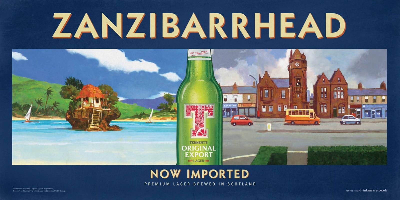 Tennent's Beer Outdoor Ad -  Zanzibarrhead