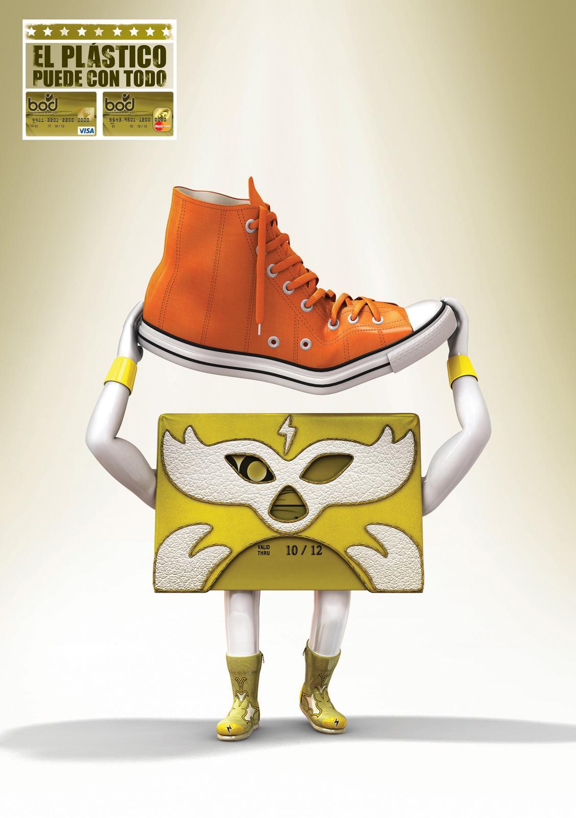 Banco Occidental De Descuento Print Ad -  Wrestlers, Shoes