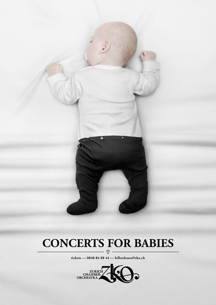 Zurich Chamber Orchestra Print Ad -  Babyconcert