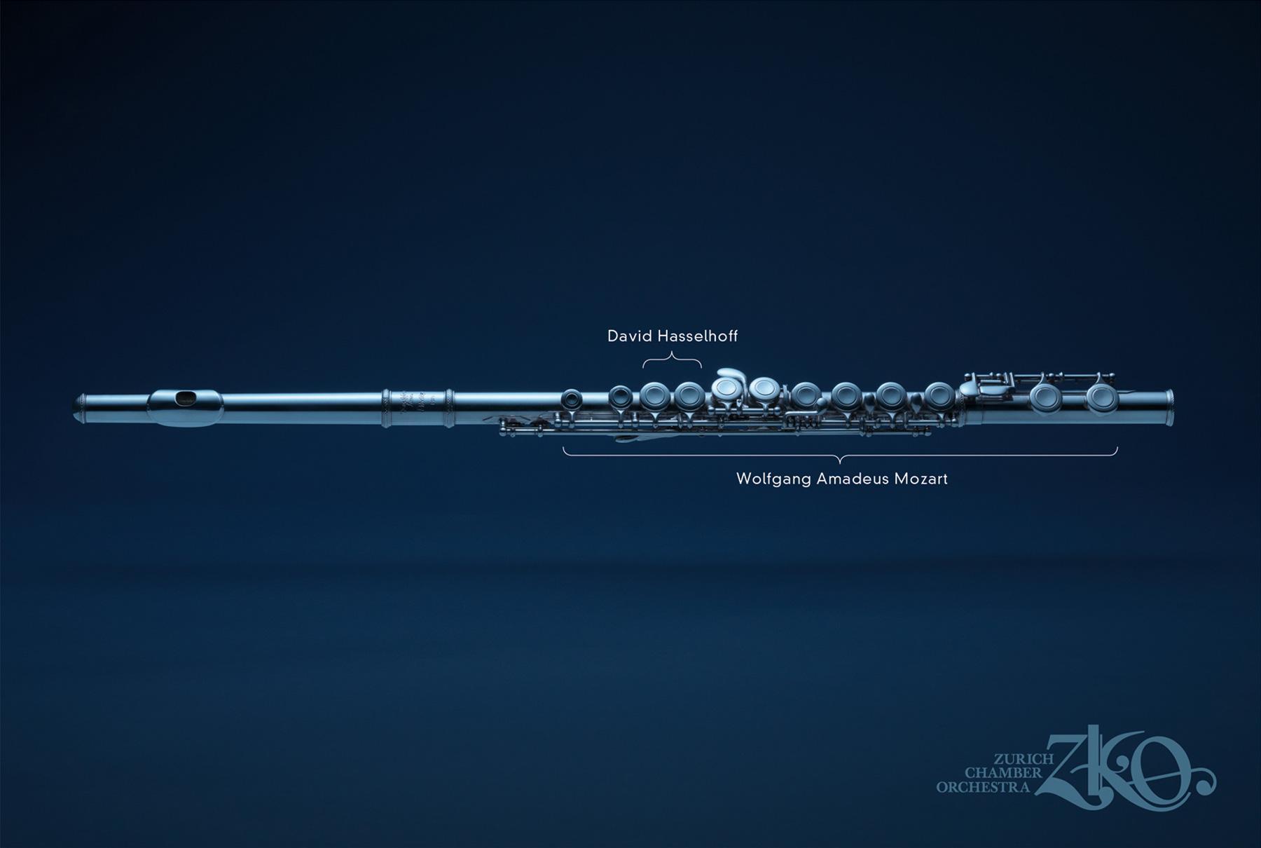 Zurich Chamber Orchestra Print Ad -  Instruments, Flute