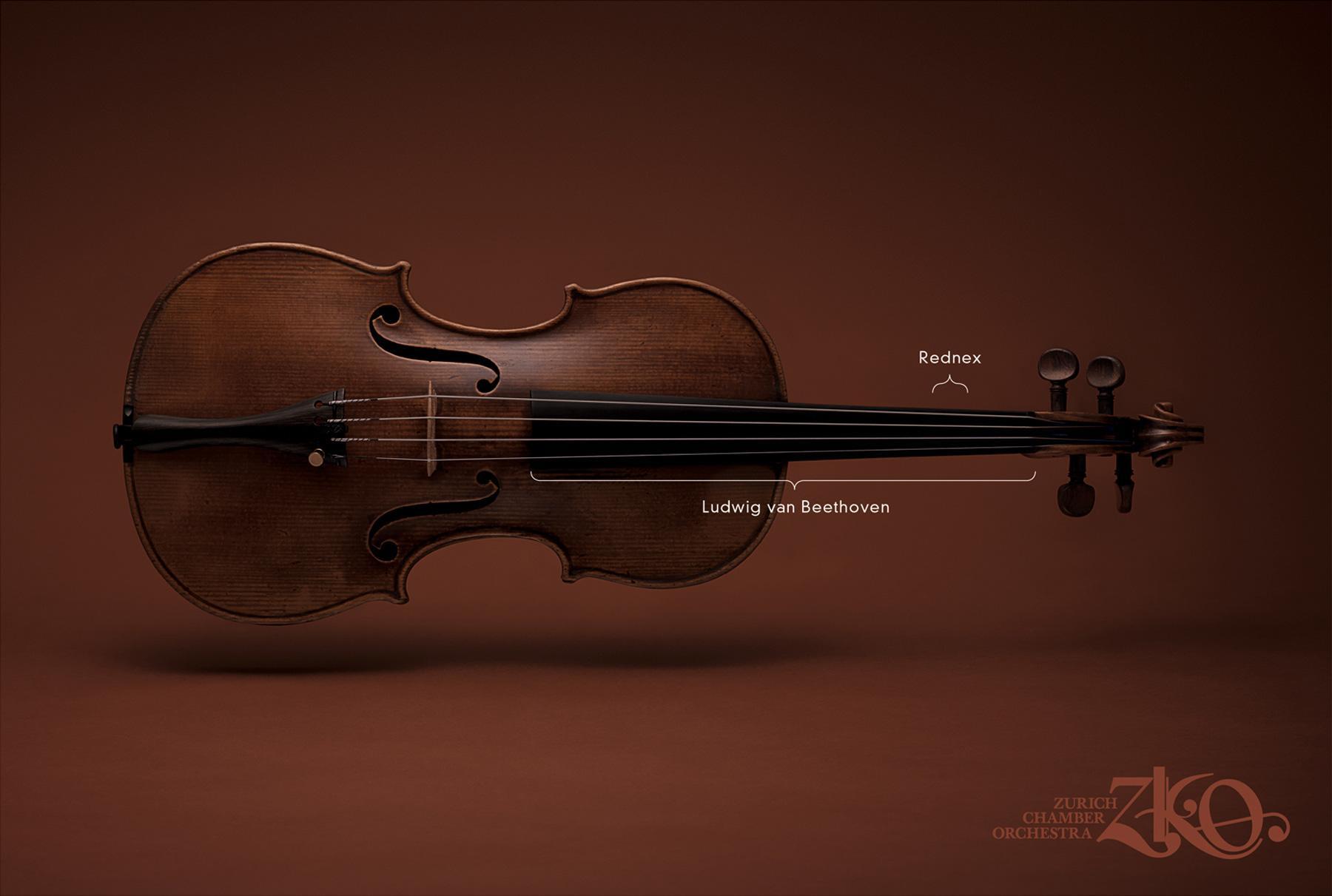 Zurich Chamber Orchestra Print Ad -  Instruments, Violin
