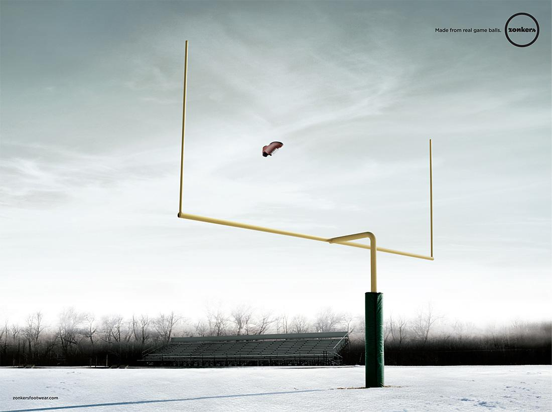 Zonkers Print Ad -  Football