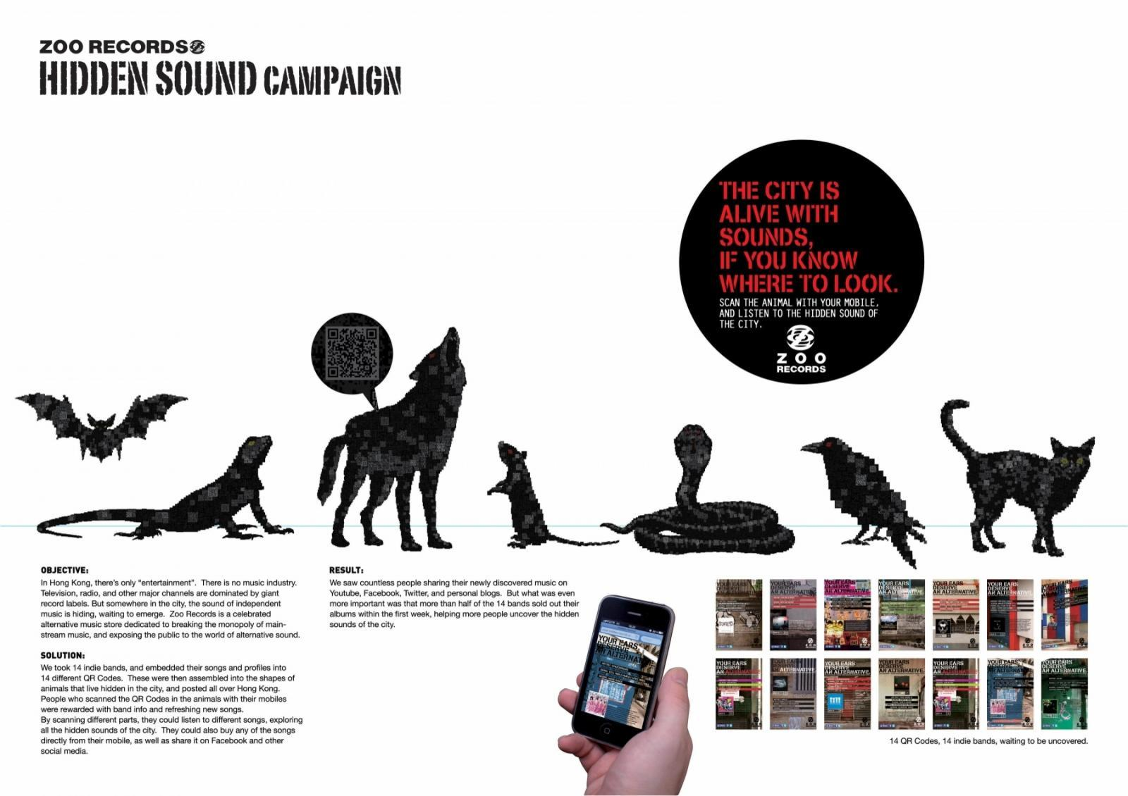 Zoo Records Digital Ad -  Hidden Sound Campaign