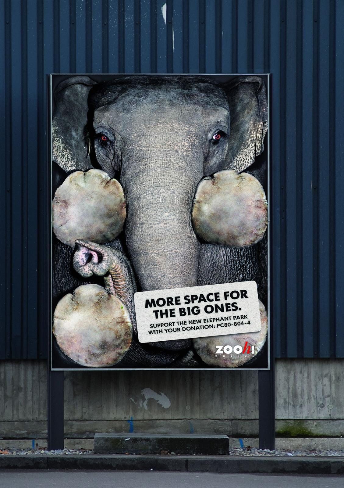 Zoo Zurich Outdoor Ad -  More space for the big ones, Vertical