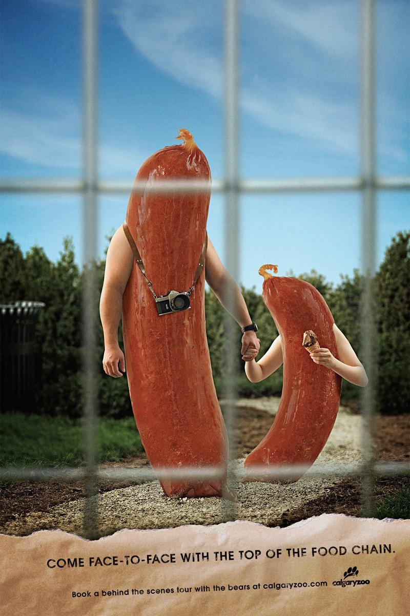 Calgary Zoo Print Ad -  Sausages